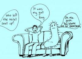 gut microbe cartoon